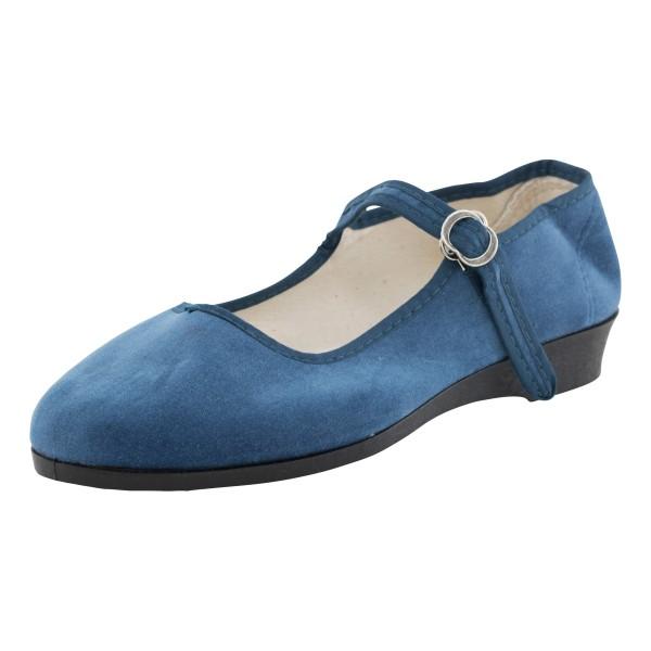 China Samtschuhe jeansblau